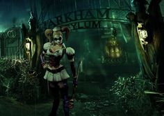 Harley at Arkham Asylum's gate (Attempt #2) | Flickr - Photo Sharing! by Kevin Chan