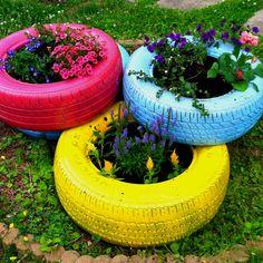 gardening with tires | ... own tire garden, saw it on pinterest and ... | Yard Fun---->Garden
