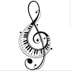 Xkito music, I don't want to love you and afterlife Music Tattoos, Tatoos, Touches De Piano, Music Symbols, Music Drawings, Music Images, Treble Clef, Pyrography, Doodle Art