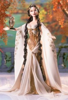 Goddess of Wisdom™ Barbie® Doll | classical-goddess-collection | The Barbie Collection.....perfect for ATHENA!!!