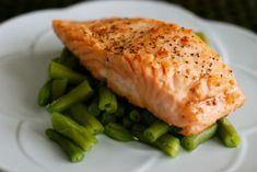 Easy recipe for garlic butter salmon ;)