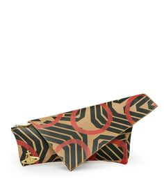VIVIENNE WESTWOOD Geometric Circle Clutch. #viviennewestwood #bags #leather #clutch #cotton #hand bags #