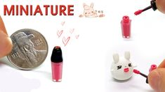 how to: miniature lipgloss Leopard Handbag, Cosmetics & Perfume, Lip Gloss, Dollhouse Miniatures, Minis, Diy And Crafts, Soap, Miniature Tutorials, Toilets