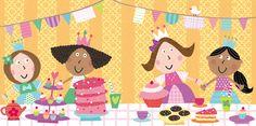 Princess Tea Party Illustration