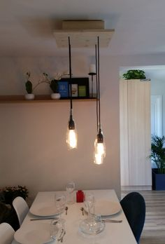 Handmade lighting, DIY lighting, dining room ideas