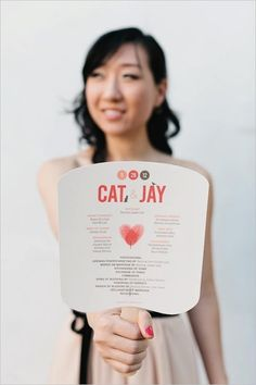 Wedding Program/Fan - for a late-may wedding in VA, we MUST DO THIS