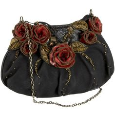 Mary Frances Accessories Mini Ramblin Rose Shoulder Bag ($126) ❤ liked on Polyvore