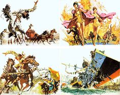 CIRCUS WORLD (1964) - Advertising art created by Frank McCarthy.