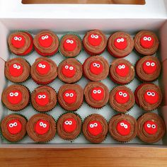 Red Nose Day cup cakes