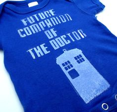 Doctor Who: Future Companion of The Doctor Onesie/ Toddle Tee
