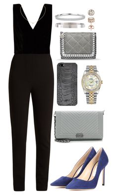 """Untitled #375"" by naomiariel ❤ liked on Polyvore featuring Elie Saab, Rolex, Jimmy Choo, Chanel, Valentine Goods, Cartier, STELLA McCARTNEY, Armitage Avenue, Blue Nile and Diamond Splendor"