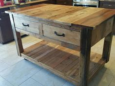 Kitchen Island Made From Pallets  ----   #pallets   #palletproject