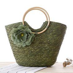 2017 Beach Bags Women Big Straw Handbags Summer Fashion Bolsa Feminina Solid Holiday Casual Lady'S Bag High Quality Zipper