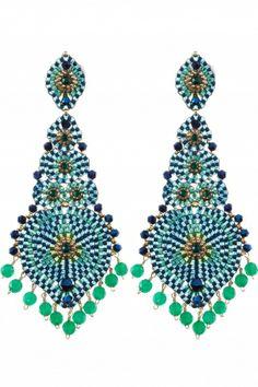 Ohrschmuck Gold Filled handmade Bead Earrings, Chandelier Earrings, Crochet Earrings, Mint Blue, Blue Gold, Schmuck Design, Bead Weaving, Beading Patterns, Beaded Jewelry