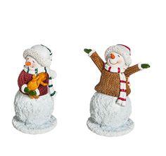 Miniature Fairy Garden Mini Garden Snowmen - Set of 2 - My Fairy Gardens