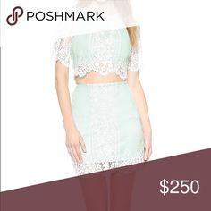 For love and lemons mint lace crop skirt small Xs Small top Xs skirt bottoms new never worn For Love and Lemons Dresses Mini