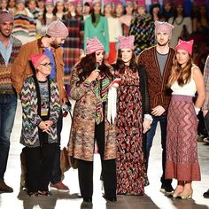 Angela Missoni (@missbrunello) ended her Milan Fashion Week show with a sea of pink pussyhats on all the models. The stripes are a nod to her family's signature print while the hats further the message of unity and female solidarity from the Women's March. (: @gettyimages) #MFW  via GLAMOUR MAGAZINE OFFICIAL INSTAGRAM - Celebrity  Fashion  Haute Couture  Advertising  Culture  Beauty  Editorial Photography  Magazine Covers  Supermodels  Runway Models