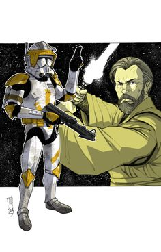Commanders and Generals: Cody and Obi-Wan COLOR by Hodges-Art on deviantART