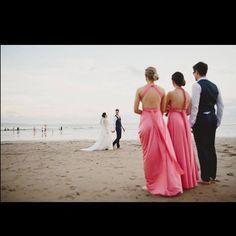 Beautiful @em__rogers dreamy destination beach wedding with her Goddess By Nature bridal party & their sexy backs 😍❤️www.goddessbynature.com
