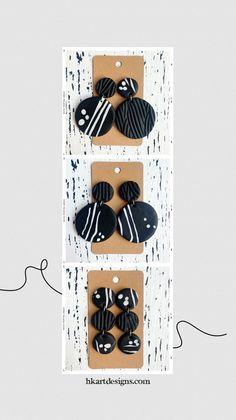 Diy Earrings Polymer Clay, Polymer Clay Flowers, Polymer Clay Crafts, Handmade Polymer Clay, Biscuit, Metal Clay Jewelry, Diy Crafts Jewelry, Clay Creations, Art Designs