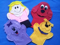 Clifford the Dog  Puppets by puppetmaker on Etsy, $19.99