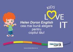"""Succesul copiilor HD ne recomandă: """"Aș vrea să confirm munca voastră profesională, nu numai în ceea ce privește predarea limbii engleze,dar și în stimularea dezvoltării limbajului la copiii mici. Fiul meu, (2 ani și 4 luni), care poate vorbi numai câteva cuvinte în română, a început deja să-și dezvolte vocabularul în limba engleză pe care îl învață în timpul cursurilor."""" Helen Doron, Love, English, Amor, English Language"""