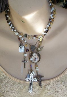 Where Have All the Solders Gone French Antique Rosary & by angels9, $81.00