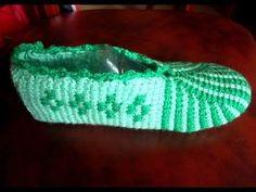 Следки тунисским крючком на любой размер без примерки часть 3 Б(Tunisian crochet slippers) - YouTube