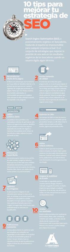 Si quieres recibir más tráfico de Google, y otros buscadores, sólo tienes que poner en práctica estos 10 consejos para mejorar el SEO de un sitio web.