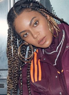Beyonce Knowles Carter, Beyonce And Jay Z, Britney Spears, Angelina Jolie, Beyonce Braids, Beaux Couples, Beyonce Style, Elle Magazine, Queen B