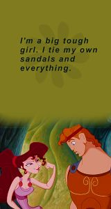 The one Disney princess I would be is Meg from Hercules ..I'm a tough cookie like her lol