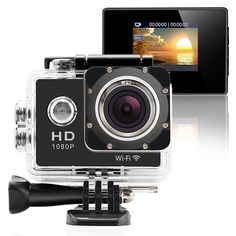 HD screen display for convenient videos and image playback. 1 x Sports Digital Camcorder(Built-in battery). 1 x Waterproof Case. Gopro Video, Video Camera, Angles, Best Waterproof Camera, Helmet Camera, Gopro Camera, Camera Case, Sports Camera, Tecnologia