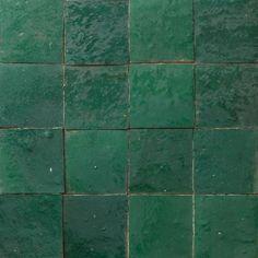drobne płytki to łazienki- opcja 1 Płytki Zellige - ciemna zieleń