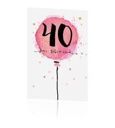 Alles staat los op dit kaartje en is te bewerken. Watercolor Birthday Cards, Watercolor Wedding, Watercolour, Homemade Watercolors, Money Making Crafts, Wedding Anniversary Cards, Brush Pen, Crafty, Merry