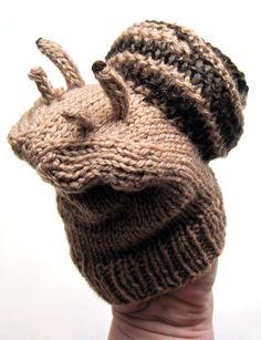 snail handpuppet knitting pattern