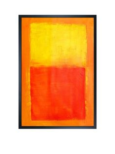 "Mark Rothko ""Orange And Yellow, 1956"" Framed Oil Reproduction, http://www.myhabit.com/redirect/ref=qd_sw_dp_pi_li?url=http%3A%2F%2Fwww.myhabit.com%2Fdp%2FB00W47TEBI%3F"