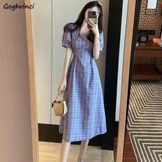 Korean Fashion Dress, Korean Dress, Fashion Dresses, Trendy Dresses, Casual Dresses, Korean Casual Outfits, Estilo Lolita, Casual Chique, Vestido Casual
