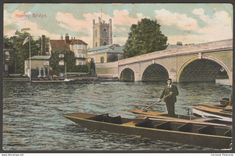 Henley Bridge, Henley-on-Thames, Oxfordshire, 1911 - Postcard