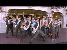 Disney XmasDay Parade 2012 Newsies - YouTube. The Newsies really fit into Main Street USA. I love this :)