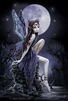 Art by Anne Stokes (Ironshod) Dark Fairy Myth Mythical Mystical Legend Elf Faerie Fae Wings Fantasy Elves Faries Sprite Nymph Pixie Faeries Hadas Enchantment Forest Whimsical Whimsy Mischievous Anne Stokes, Fairy Dust, Fairy Tales, Magic Fairy, Fairy Land, Elfen Tattoo, Elfen Fantasy, Fairy Pictures, Fantasy Pictures