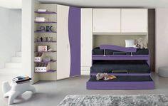 Camerette a ponte 2016 (Foto) Bedroom Closet Design, Sleepover, Bunk Beds, Kids Room, Toddler Bed, Entryway, Furniture, Craft Rooms, Home Decor