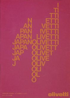 Walter Ballmer, Poster series for Olivetti, 1975.