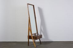 Danish Modern Rosewood Standing Mirror with Drawer  $1800  MIDCENTURY MODERN FINDS