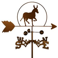 This handmade weathervane features the perfect design for the member of your circle who is affectionately known as the stubborn one. Whether you call it a mule, donkey, or burro, this weather-resistant accent will bring smiles to visitors for years.