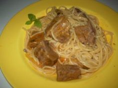 Receitas - Carne guisada com esparguete - Petiscos.com