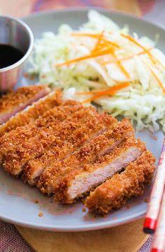Low FODMAP Recipe and Gluten Free Recipe - Tonkatsu pork    http://www.ibs-health.com/low_fodmap_tonkatsu_pork.html