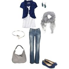 """""""blue and silver"""" by sassymel75 on Polyvore"""