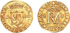 Mary Queen of Scots, 22 Shillings, under James Hamilton, Earl of Arran as Regent & Governor, 1553 MARIA• D• G• R• SCOTORVM, crowned coat-of-arms; I G at sides. On the reverse, +DILIGITE IVSTICIAM 1553, crowned monogram; cinquefoils at sides. Since...