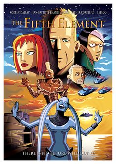 Cult Movie Posters Get A Cartoon Makeover - 5th Element