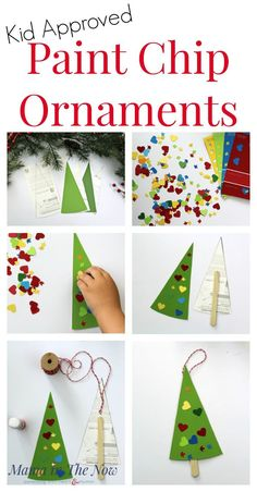 You have to see these great DIY Christmas ornaments for your kids. These easy and fun ornaments made from paint chips. With just a little bit of prep time, you can have a fun ornament making station and let your kids make their own holiday ornaments this year. Have fun making ornaments that will be remembered and treasured for years to come. Enjoy being creative with your kids this year and make paint chip ornaments with them. #diy #homemade #Ornaments #easy #kids #christmas Happy Christmas HAPPY CHRISTMAS | IN.PINTEREST.COM #WALLPAPER #EDUCRATSWEB